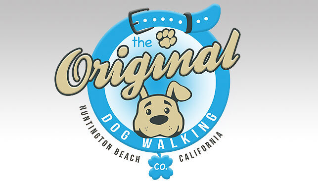 the original dog walking co logo