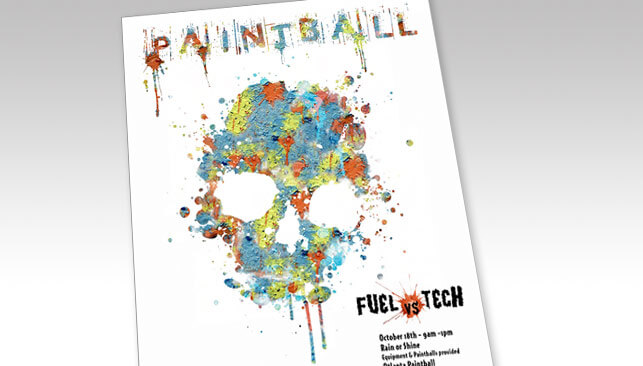 Paintball Event Poster