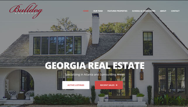 Bulldog Brokers Real Estate web site