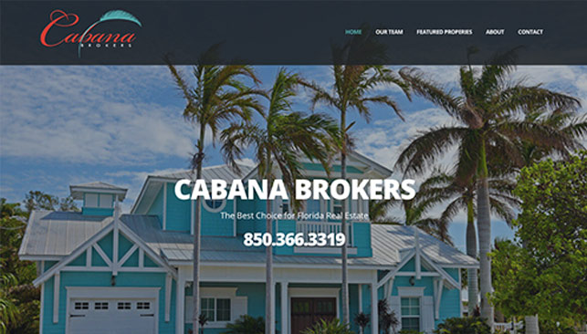 Cabana Brokers web site