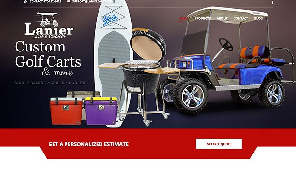 lanier carts web site